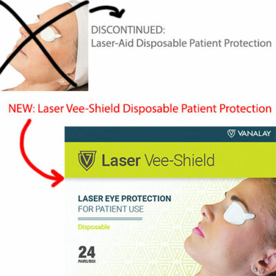laser aid disposable patient eye protection