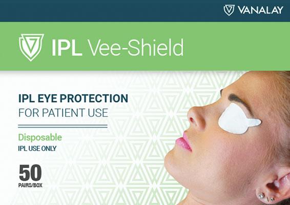 ipl vee shields disposable patient protection