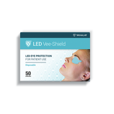 led vee shield disposable patient eye protection